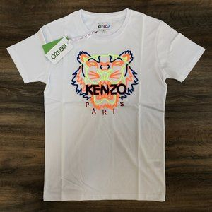 "Kenzo Men Multi Color Tiger Embroidery T-Shirt ""S"""